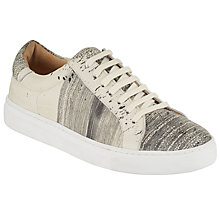Buy Kin by John Lewis Evor Splatter Lace Up Trainers, Silver Online at johnlewis.com