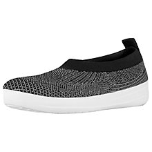 Buy FitFlop Uberknit Ballet Pumps, Black Online at johnlewis.com