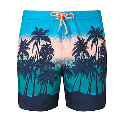 Original Penguin Sunset Beach Swim Shorts, Blue