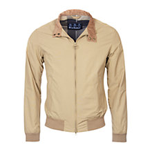 Buy Barbour Royston Harrington Jacket, Sand Online at johnlewis.com