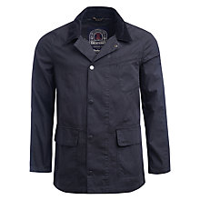 Buy Barbour Greatcoat Salcombe Cotton Jacket, Navy Online at johnlewis.com