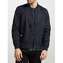 Buy Barbour International Raceway Zip Through Bomber Jacket, Navy Online at johnlewis.com