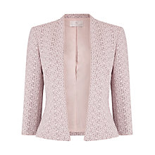 Buy Jacques Vert Lace Bonded Jacket, Light Neutral Online at johnlewis.com
