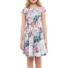 Buy Ted Baker Illuminated Bloom Skater Dress, Purple Online at johnlewis.com