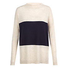 Buy Hobbs Phoebe Jumper, Navy / Oatmeal Online at johnlewis.com
