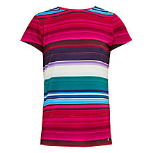 Buy Ted Baker Itrsti Blushing Bouquet Stripe T-Shirt, Deep Pink Online at johnlewis.com