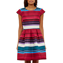 Buy Ted Baker Rozah Blushing Bouquet Stripe Dress, Deep Pink Online at johnlewis.com