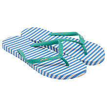 Buy Joules Ola Stripe Flip Flops, Blue Online at johnlewis.com