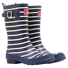 Buy Joules Molly Mid Wellington Boot, Navy Online at johnlewis.com