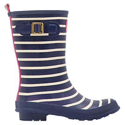 Joules Molly Waterproof Mid Wellington Boot, Navy
