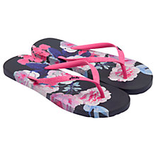 Buy Joules Bloom Flip Flops, French Navy Online at johnlewis.com