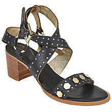 Buy AND/OR Joleta Studded Detail Sandals, Black Leather Online at johnlewis.com