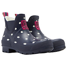 Buy Joules Wellibob Ankle High Wellington Boots, Navy Online at johnlewis.com
