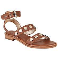 Buy AND/OR Loleta Studded Detail Sandals, Tan Online at johnlewis.com