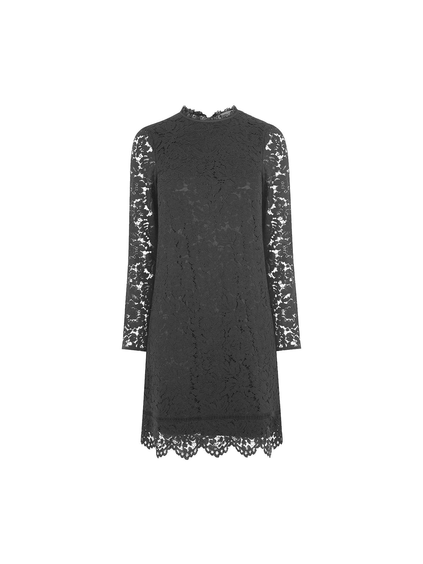 89e2c97c05fc Buy Oasis Puritan Scallop Lace Dress, Black, 8 Online at johnlewis.com ...