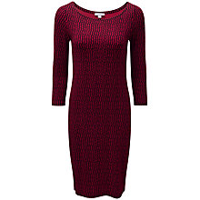 Buy Pure Collection Kylie Slash Neck Jersey Dress, Pink Broken Stripe Online at johnlewis.com