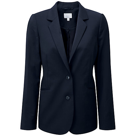 Buy Pure Collection Lydia Wool Blazer, Navy Online at johnlewis.com
