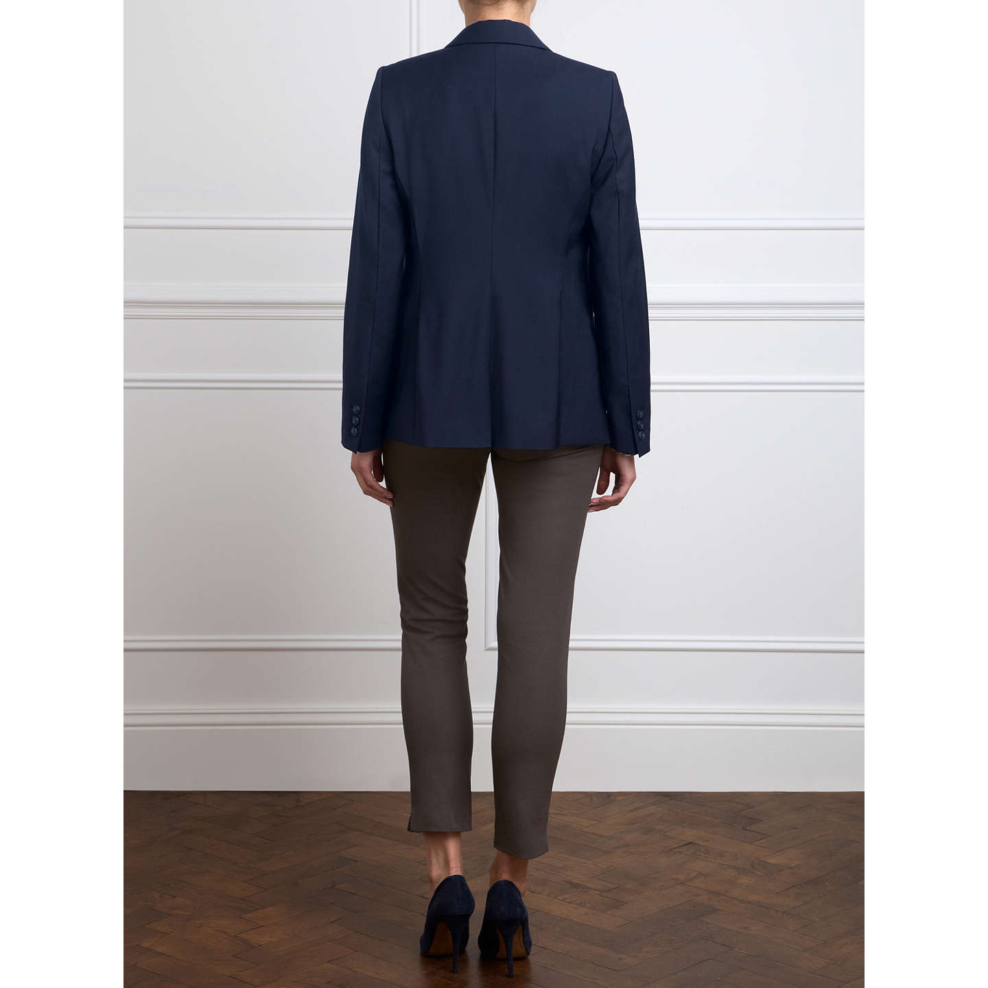 BuyPure Collection Lydia Wool Blazer, Navy, 8 Online at johnlewis.com