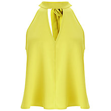 Buy Miss Selfridge Keyhole Shell Top, Chartreuse Online at johnlewis.com