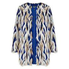Buy Grace & Oliver Kiera Faux Fur Coat, Cobalt Online at johnlewis.com