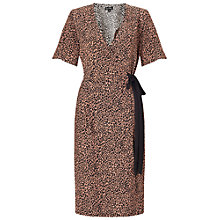 Buy Miss Selfridge Animal Wrap Midi Dress, Multi Online at johnlewis.com