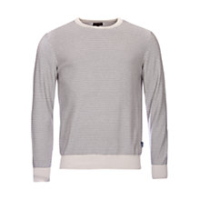 Buy Barbour Reverse Stripe Crew Neck Jumper Online at johnlewis.com