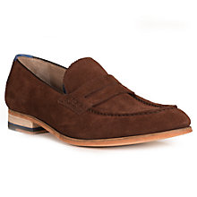 Buy Oliver Sweeney Penny Loafers, Chocolate Online at johnlewis.com