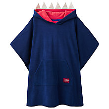 Buy Little Joule Children's Jawsome Towelling Swim Poncho, Navy Online at johnlewis.com