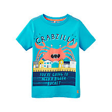 Buy Little Joule Boys' Ben Jersey T-Shirt, Blue Online at johnlewis.com