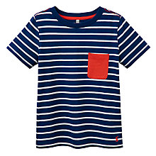 Buy Little Joule Boys' Olly Striped Jersey T-Shirt Online at johnlewis.com