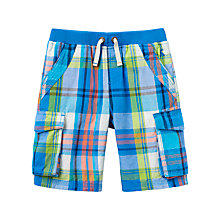 Buy Little Joule Boys' Bob Cargo Shorts, Ocean Blue Online at johnlewis.com