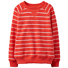 Buy Little Joule Boys' Miller Crew Neck Striped Sweatshirt, Red Online at johnlewis.com