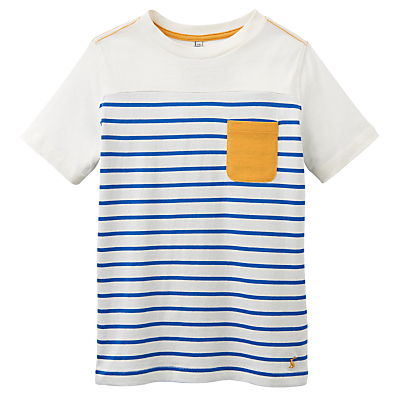 Little Joule Boys' Olly Striped Jersey T-Shirt