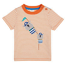 Buy John Lewis Baby Koala Striped T-Shirt, Red Online at johnlewis.com