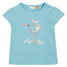 Buy John Lewis Baby Stork T-Shirt, Blue Online at johnlewis.com