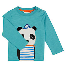Buy John Lewis Baby Panda T-Shirt, Green Online at johnlewis.com