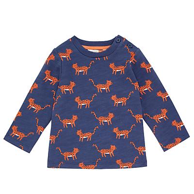 John Lewis Baby Leopard Sweatshirt, Navy