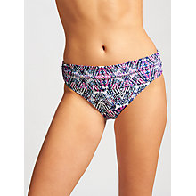 Buy John Lewis Zambezi Zig Zag Fold Down Bikini Briefs, Purple/Multi Online at johnlewis.com