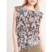 Buy AND/OR Jojo Print Top, Khaki/Multi Online at johnlewis.com