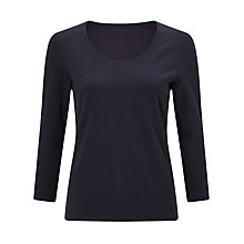 Buy John Lewis Double Front Scoop T-Shirt Online at johnlewis.com