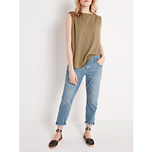 Buy AND/OR Cotton Slub Muscle Top, Khaki Online at johnlewis.com