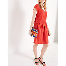 Buy AND/OR Sandie Jersey Cheesecloth Dress, Soft Red Online at johnlewis.com