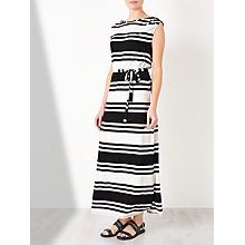 Buy Collection WEEKEND by John Lewis Jersey Stripe Maxi Dress, Black/White Online at johnlewis.com