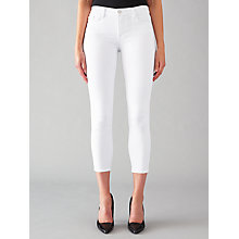 Buy J Brand 835 Mid Rise Cropped Skinny Jeans, Blanc Online at johnlewis.com