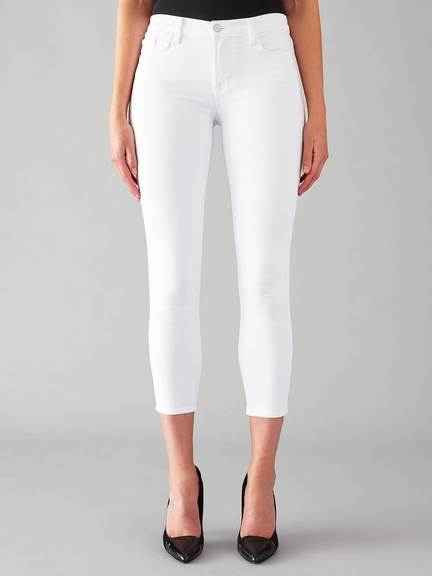 8d799609478d2 Buy J Brand 835 Mid Rise Cropped Skinny Jeans, Blanc, 24 Online at  johnlewis ...