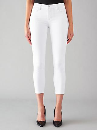 J Brand 835 Mid Rise Cropped Skinny Jeans, Blanc