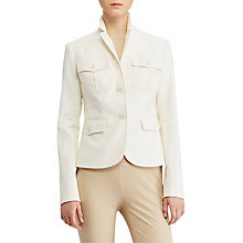 Buy Lauren Ralph Lauren Herringbone Safari Jacket, Herbal Milk Online at johnlewis.com