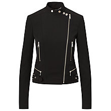 Buy Lauren Ralph Lauren Stretch Twill Moto Jacket, Black Online at johnlewis.com