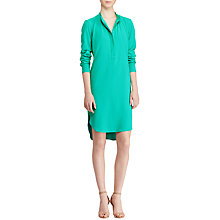 Buy Lauren Ralph Lauren Crepe de Chine Shirt Dress, Tropic Turquoise Online at johnlewis.com