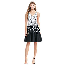 Buy Lauren Ralph Lauren Sleeveless Floral Dress, Black/White Online at johnlewis.com